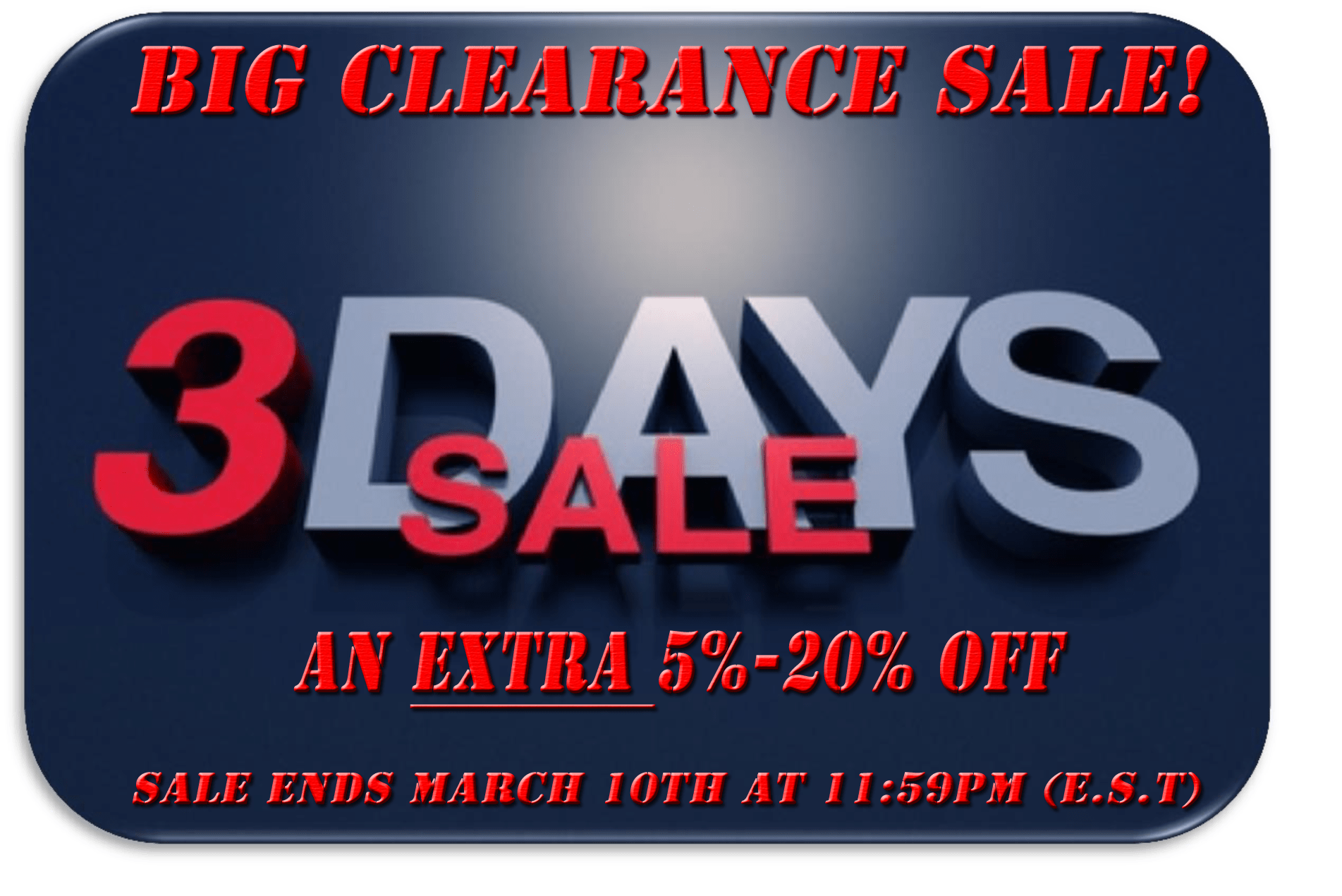 3 Days to Get an Extran 5%-20% Off