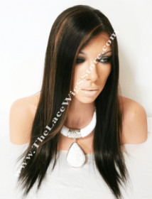 "16"" Full Lace Wig Light Yaki Color 2 by 30 HL"