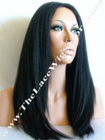 "18"" Kinky Straight Wig Color #1, 1B, 2, 3 or 4"