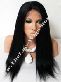 18inch Lace Front Kinky Straight Color 1B or # 1