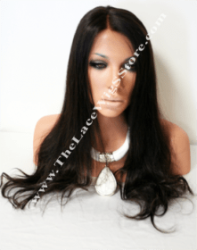 18inch Malaysian Virgin Full Lace Wig Natural Color Natural Texture
