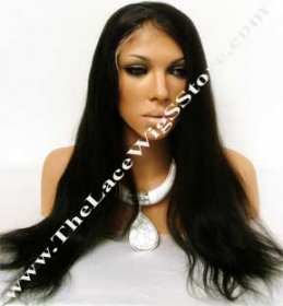 20inch-22inch Lace Front Natural Straight Color #1 or #1B or #2