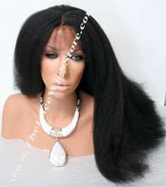 Lace Front 18inch or 20inch Kinky Straight Color 1 or 1B