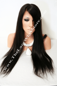 "22"" Lace Front Natural Straight Color 1B or 1"