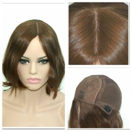 8inch-European-Virgin-Jewish-Medical-Wig-Long-Bob-Light-Brown
