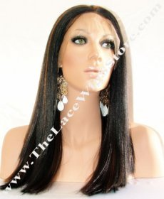 "Lace Front 14"" Light Yaki Straight Color #1B/#6"