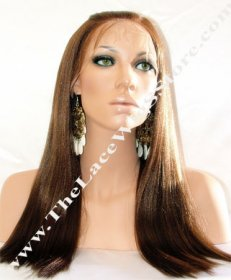 "Lace Front 16"" Yaki Straight Color #2by6"