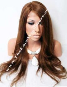18inch-20inch Full Lace Wig or Glueless Wig Natural Straight Color 4