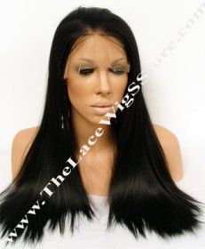 Lace Front Wig 14inches Yaki Color#1