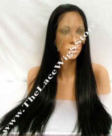 22inch Full Lace Synthetic Wig Silky Straight Color 1 and 1B