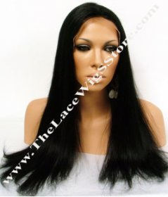 "22"" Full Lace Silky Straight Color #1"