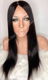 20inch Brazilian Virgin Glueless Full Lace Wig Natural Color