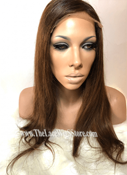 18inch HD Wig Straight Light Brown Color