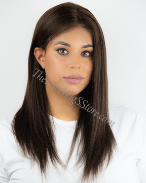16inch Lace Front Light Yaki Color 3