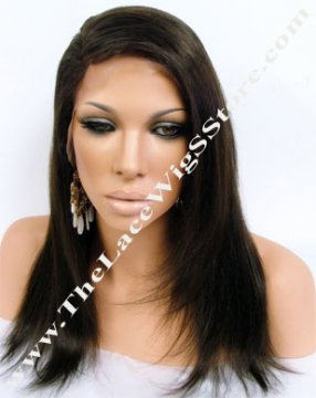 "14"" Lace Front Wig Straight Color 2"