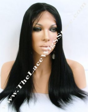 "16"" Full Lace Wig Light Yaki Color 1"