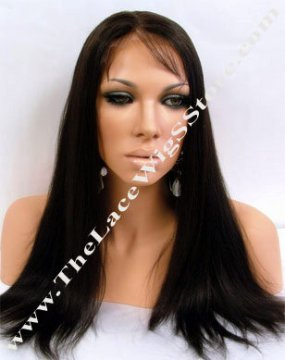 "18"" Full Lace Wig Light Yaki Color 2"