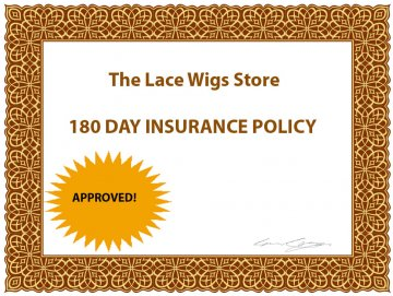 180 day lace wig insurance policy