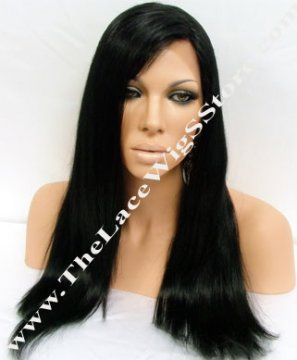 18inch or 20inch Full Lace Wig Natural Straight Color 1, 1B or 2