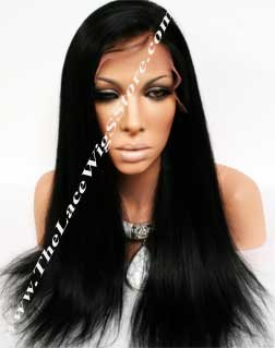 "20"" Lace Front Wig Light Yaki Color 1"