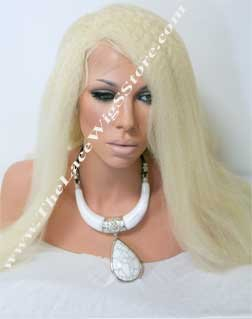 Lace Front Wig 22inch Kinky Straight color 613