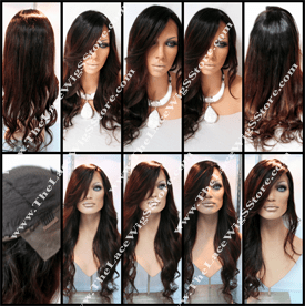 22inch-Lace Front-Wig-Natural-Dark-Roots-With-Red-Maroon-Ends