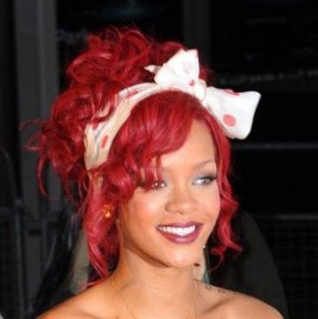 Lace Front 24inch Rihanna Curl Color Red