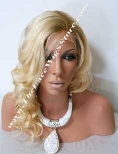 14inch Russian Virgin Hair Golden Blonde Bodywave With Dark Roots