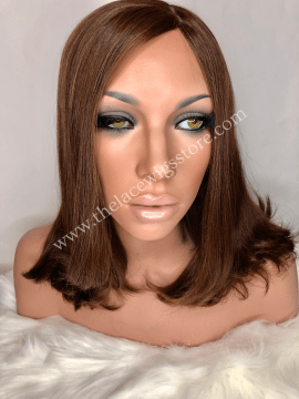14inch European Virgin Glueless Wig Light Brown Color