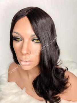 20inch European Virgin Jewish Wig Natural Color