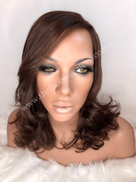 14inch European Virgin Glueless Wig Medium Brown